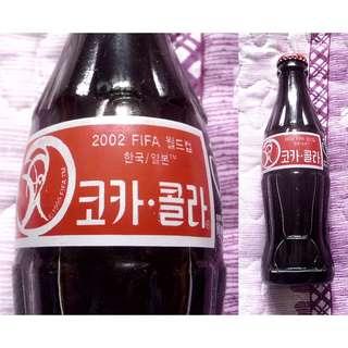 02年韓國世界杯可口可樂紀念玻璃樽一枝
