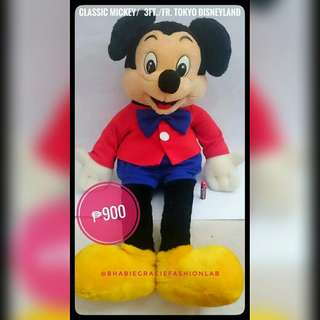 Life Size Mickey Mouse Stuffed Toy (Authentic)