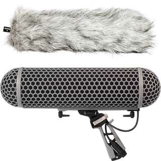 Rode Blimp Windshield and Rycote Shock Mount for Shotgun Microphones
