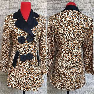 zara inspired animal print trench coat