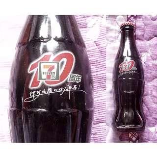 02年中國7-Eleven 10週年可口可樂紀念玻璃樽一枝