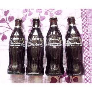 97年美國迪士尼25週年可口可樂紀念玻璃樽一套4枝