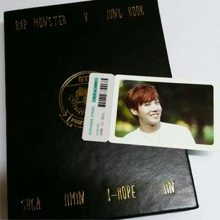 jhope bts official goods photo album with pc