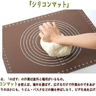 Japan Large and thick dough pad silicone kitchen mat