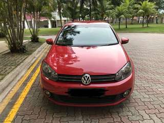 Red Volkswagen Golf Compact Car Rental