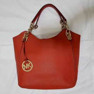 Red Michael Kors Frame Bag