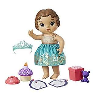 BN Baby Alive Cupcake Birthday Baby Toy Set with Accessories (Brunette)