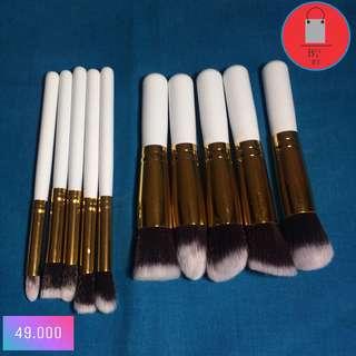 Makeup Brush 10pcs-white gold