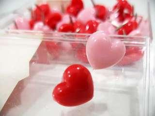 Heart love Pins / Thumbtacks