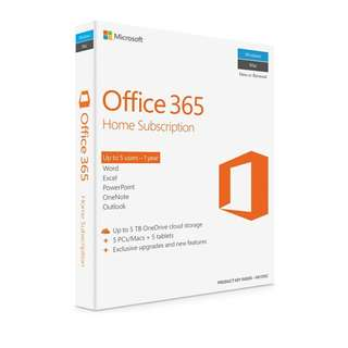 Microsoft Office 365 Home 5 Users