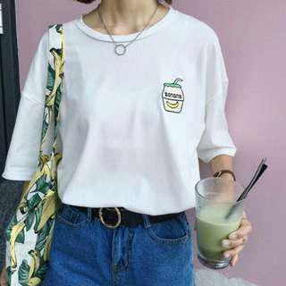 ulzzang banana milk shirt