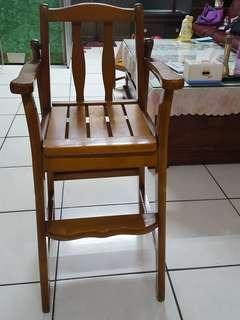 🚚 兒童實木餐椅