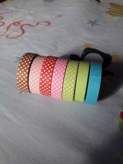 Polka-dotted and Plain Paper Tapes