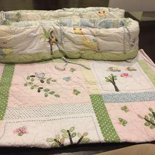 Pottery Barn Crib Bedding Set