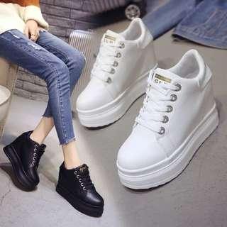 Casual Sneakers High Heels Wedges 10cm