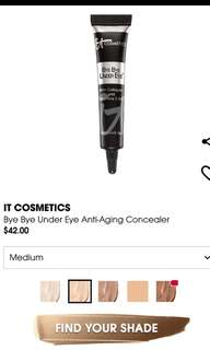 BN it cosmetics bye bye under eye concealer (medium)