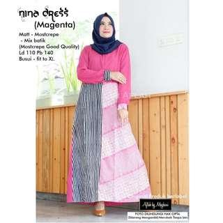 Nina dress( magenta)