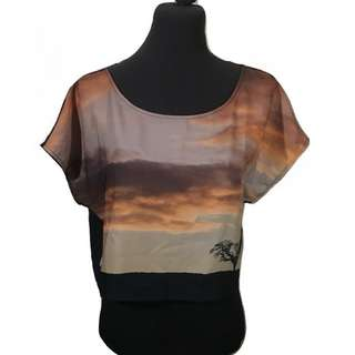 DIVIDED BY H&M SUNSET SCENE TOP