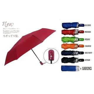Payung lipat 3 l payung kecil payung warna jas hujan waniya