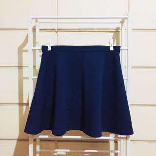 Valley Girl Navy Blue Tennis Skirt