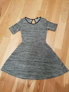 H&M Grey Dress (size - US4 )