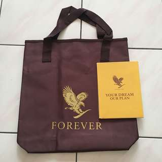 Forever Living Bag with CD & catalog