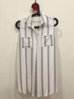 🚚 棉麻無袖背心襯衫