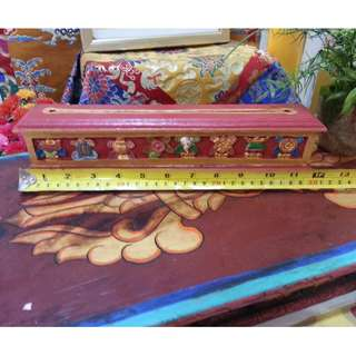 🚚 Hand-Carved Tibetan Incense Box ( Lenght 12 inch X Height 3 inch )