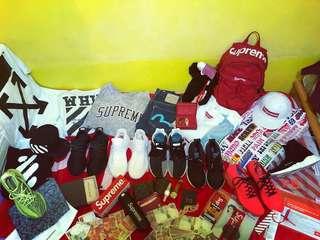 Yeezy supreme LV off white clot evisu Balenciaga Kaws Human race Rolex Nike Adidas EQT Ub