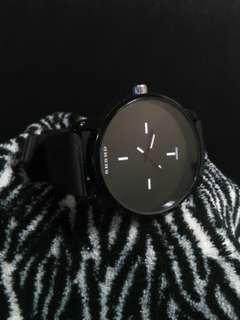 SHSHD Black Silicon Strap Watch