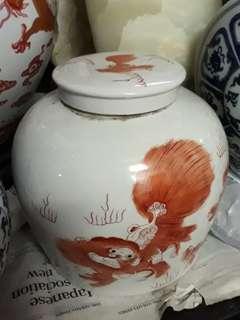 """10"""" old porcelain vase 老红獅陶瓷矸"""