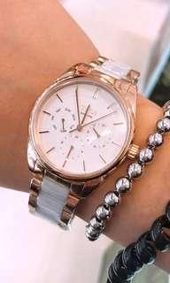 TITUS 鐵達時女裝半陶瓷手錶(店主推薦)