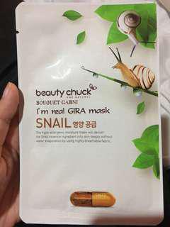 Beauty chuck snail mask