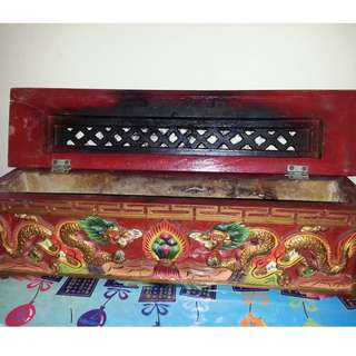 🚚 Hand-Carved Tibetan Incense Box (Length 18 inch X Height 6 inch)