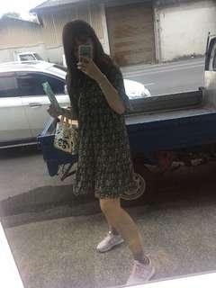 🚚 韓 碎花 洋裝