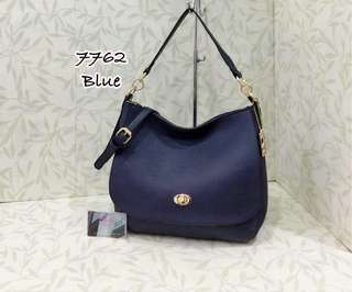 Coach Turnlock Bag Blue Color