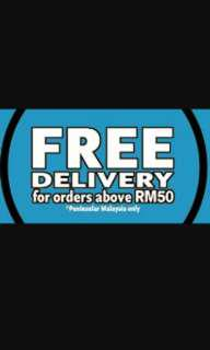 Free shipping for over rm50