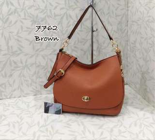 Coach Turnlock Bag Brown Color