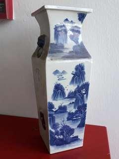 """20"""" old porcelain vase 老青花陶瓷花瓶"""