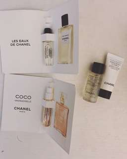 Chanel 香水 mask essence sample 版 skincare