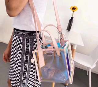 Charles and Keith transparent bag ❤👜
