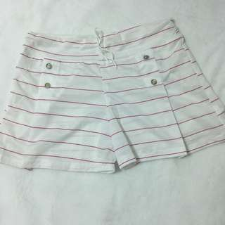 Thin Red Lines (White Shorts)