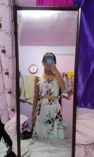 Floral terno croptop and skirt