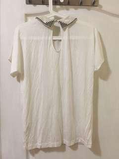 🚚 Cop copine白色絲質 質感上衣