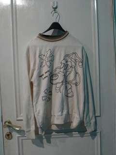 Cute Cartoon sweater hoodie long sleeve clothes baju hangat second bekas