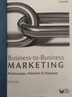 RMIT B2B Marketing Textbook & Lecture Notes