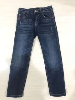 Zara kids dark blue jeans