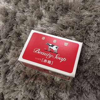 Original from japan beauty cow soap (Red)