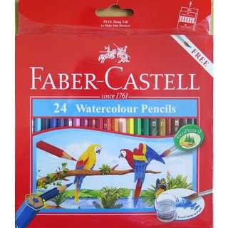 🚚 Faber-Castell 24 Watercolour Pencils
