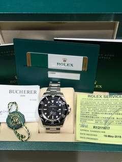 Rolex-116600-Sea Dweller-Full Sea!有買賣單據!已經上行驗證完畢!膠紙全齊!已經停產!🎊全新🎊